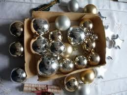 Weihnachten Deko Christbaumschmuck Kugeln Silber