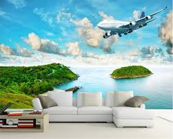 Beibehang Custom 3d Foto Behang Moderne Zee View Eiland Regenwoud