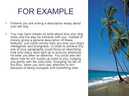 descriptive writing put notes in link spiral next page ppt  for example pretend you are writing a descriptive essay about your pet dog
