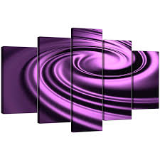 display gallery item 4 five panel set of modern purple canvas art display gallery item 5