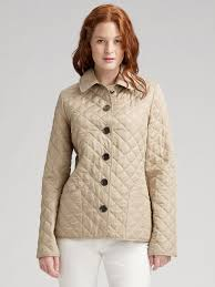 Lyst - Burberry brit Fitted Quilted Jacket in Natural & Gallery Adamdwight.com