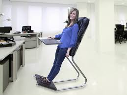 stand up desk chair leaning