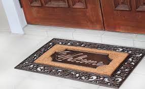 Decorating coir door mats pics : Brush Large Rubber and Coir Door Mat – A1HCSHOP