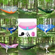 Creamdog_ Hammock With Mosquito Net Portable Strength