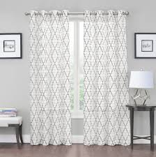 2 pack kendall luxurious trellis crushed grommet sheer voile curtains by goodgram assorted