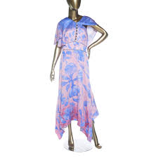 Peter Pilotto Size Chart Peter Pilotto On Shoulder Printed Midi Dress