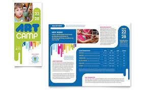 school brochure design ideas kids art camp brochure template design