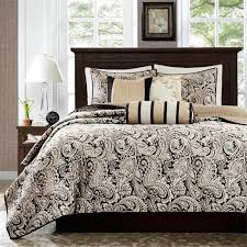 Aubrey Black Quilted Coverlet Set by Madison Park - Paul's Home ... & Aubrey Black Quilted Coverlet Set - 675716746063 Adamdwight.com