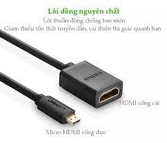 Cáp chuyển đổi micro HDMI đực sang HDMI cái UGREEN 20134