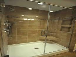 installing a shower door on a fiberglass shower modern fiberglass shower base installing frameless shower door