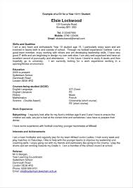 Student Cv Examples Sample Of Easy Resume Free Resume Templates