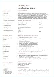 Example Resume For Dental Assistant Resume Layout Com