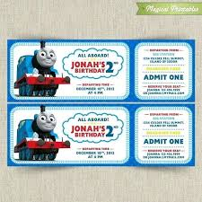 Awesome Thomas The Train Invitation Template 33 New Thomas The Train