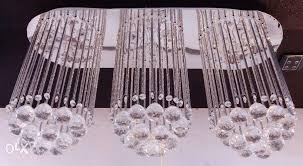 3way crystal chandelier with remote control