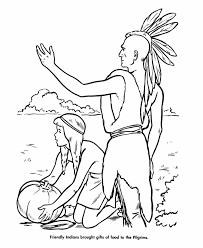 Small Picture Pilgrim Thanksgiving Coloring Page Sheets Native Americans