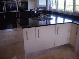 image of gloss black laminate countertops