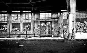 free images black and white architecture road street atmosphere mystical dark hall broken contrast darkness industry decay ruin old building