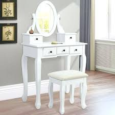 vanity desk with mirror black without bemine co throughout decor 15