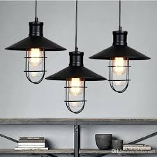 rustic pendant lights vintage style lamps rounded metal lamp shade lighting linear suspension modern out s
