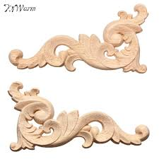 appliques for furniture. fashion 1pc woodcarving decal corner applique frame door decorate wall doors furniture decorative figurines wooden miniatures appliques for