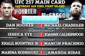 UFC 257 Online Live Stream Free, ESPN + BT Sportbox Office HD with  McGregorvs. How to Watch Poirier 2 Live Crack Stream Reddit, Start Time TV  Channel, UFC Game Time, etc. – Film Daily – Jioforme