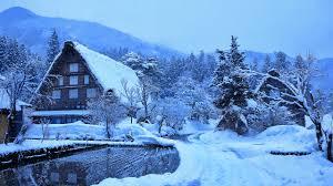 Desktop Hintergrundbilder Japan Dorf Shirakawa Winter 2560x1440