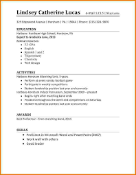 Interesting Design Resume For High School Student First Job High