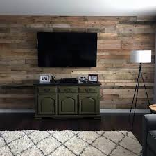 reclaimed wood wall ideas living room