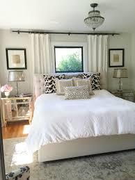 Neutral Bedroom Window Behind Bed Bedroom Window Treatments - Bedroom window treatments