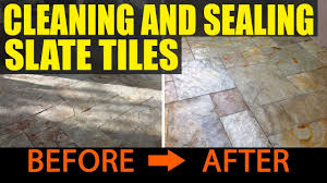 cleaning and sealing slate tiles in ulveston