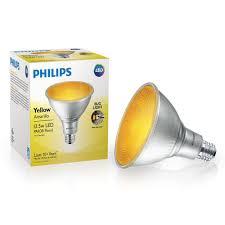 Amber Flood Light Bulb Philips 90 Watt Equivalent Par38 Led Flood Yellow 4 Pack