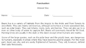 Punctuation Worksheet Maker Sample Answer Key