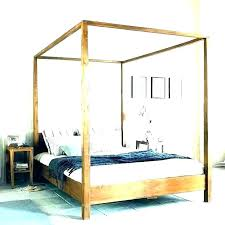 Wood Canopy Bed Frame King Wooden Frames Solid Cheap Home ...