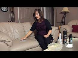 easy way to clean leather furniture