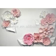 Homemade Paper Flower Decorations Handmade Paper Flowers 3d Paper Wall Decoration Wedding Decorations