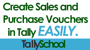 Create Voucher Cool How To Create Sales And Purchase Vouchers In Tally