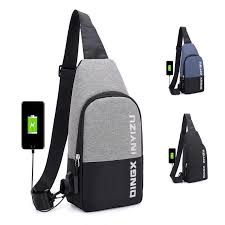 Man USB Charging Smart <b>Backpack</b> Waterproof Single Shoulder ...