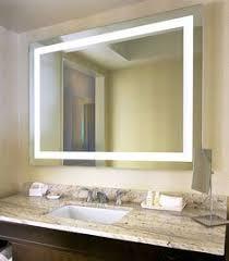 Mirror Design Ideas, Allegro Decorative Lighted Bathroom Mirror Remodel  Modern Yellow Rectangular Contemporary Cabinets Ceramics