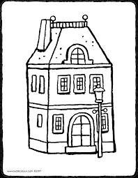 Huis Met Lantaarnpaal Kiddicolour