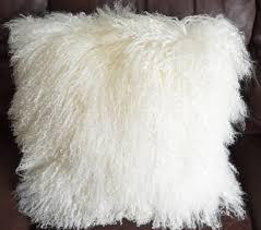 mongolian fur pillow. Unique Mongolian In Mongolian Fur Pillow W