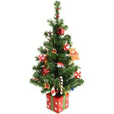 Decorated Christmas Trees | ... Pre Decorated Artificial Mini Desk Table  Top Festive Christmas