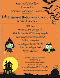 halloween sale flyer shoreline cooperative preschool halloween carnival