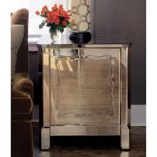 Regency Bedroom Furniture Cyril Hollywood Regency Golden Antique Mirror Gold Ball Nightstand