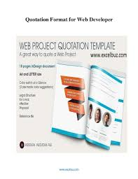 Website Design Proposal Example New Web Development Quote Template ...