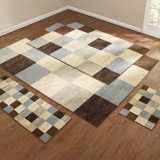 checd box 4 pc rug set