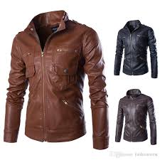 leather jackets men styles mens jackets 2018 fashion mens pu leather and warm coats with zipper hot male long sleeve and slim jackets style jacket coat for