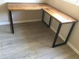 corner desk wood weathered wood corner desk l shaped reclaimed with metal base weathered wood corner corner desk wood