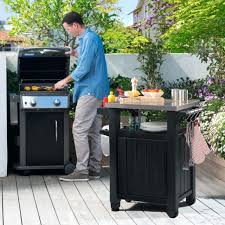 outdoor prep station home depot unity gal entertainment patio storage grilling cart s outdoor prep station