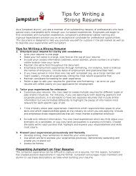 Examples Of Strong Resumes - Examples of Resumes