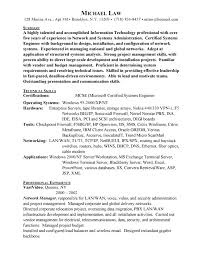 System Admin Resumes Network Systems Administration Free Resumes Free Resumes